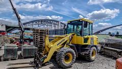 Bau der Osthafenbrücken 2 (JohannFFM) Tags: osthafen brücken frankfurt