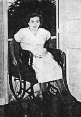 aH16 braced polio wheeler (jackcast2015) Tags: handicapped disabledwoman crippledwoman wheelchair paralysed poliogirl legbraces calipers polio woman poliowoman infantileparalysis