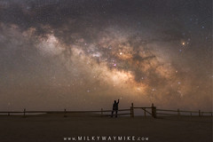 Connecting The Dots (Mike Ver Sprill - Milky Way Mike) Tags: connectingthedots man pointing point star stars dust milkywaygalaxy assateagueislandnationalseashore beautiful silhouette midnightexplorer solitude alone nightsky nightscape nightscaper landscape seascape maryland berlin fence sand beach mikeversprill michaelversprill fusco royce bair jack longexposure chaser astrophotography astronomy eastcoast