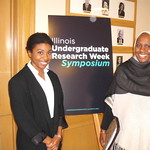 Morgan Hollie (left), LAS Global Studies Senior and Center for African Studies FLAS Fellow