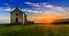 Sunrise in Mundaka (Koldobika Arriaga) Tags: amanecer baskeland basquecountry church egunsentia eliza euskadi euskalherria iglesia itsasoa mar mundaka sun sunrise vasco cielo landscape paisaje paisajea sea seascape sky ura water cloudsstormssunsetssunrises