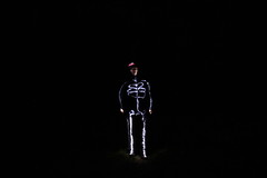 Lightpainting (GarethBell) Tags: lightpainting wales night dark skeleton canoneos450d 450 d 450d quarry hat light black alone torch longexposure anglesey northwales remote remoteshutter selfportrait