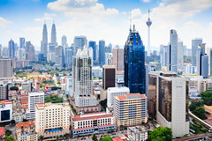 Kuala Lumpur skyline (Patrick Foto ;)) Tags: aerialview buildingexterior businessfinanceandindustry capitalcities citylife cloudsky colorimage downtowndistrict futuristic nopeople photography traveldestinations urbanskyline architecture business city cityscape day growth horizontal kualalumpur malaysia modern outdoors panoramic sky skyscraper tower federalterritoryofkualalumpu federalterritoryofkualalumpur my