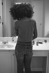 Chica with Big-hair..😜💋 (Ken B Gray) Tags: natural covenant marriage love monochrome noiretblanc blackandwhite beautifulhair beauty portrait mirror forever family