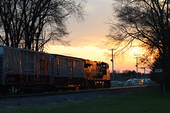Home for the night (view2share) Tags: cn2276 cn canadiannational gevo ge generalelectric test testtrain siding sidetrack westbound evening sunset sundown dusk twighlight minneapolissub deansauvola newrichmond wisconsin wi stcroixcounty april232017 april2017 april 2017 spring springtime rr railway railroad railroading railroads rails rail rring railroaders track transportation trains tracks train transport trees trackage trackmaintenance mainline maintenance maintenanceofway special specialtrain trackscanning trackinspection railinspection railscanning