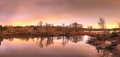 Jackson lake evening_Panorama1 (maryannenelson) Tags: colorado mancos jacksonlake sunset colors dusk landscape nonurban colorful panorama
