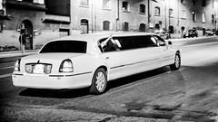 Night on the Town (ale_brando) Tags: limo limousine street streetphotography drive rome roma monochrome blackwhite blackandwhite 50mm d700 nikonfx fx nightlife nightphotography fun car silverefexpro niksoftware