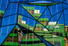 misshapen (The Green Album) Tags: bilbao city spain modern contemporary architecture glass panels distorted misshapen angles shapes fujifilm xt2 ministry health