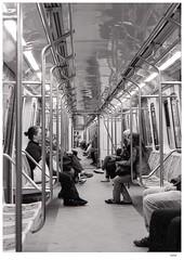 Linea H (Carlos E Cortés Parra) Tags: subte metro buenosaires street analogic blackandwhite kodak trix400 nikonf4 outdoor