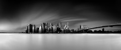 The Sound of Silence (merlune) Tags: brooklyn morning newyork manhattan ndfilter firecrest panorama longexposure downtown blackwhite