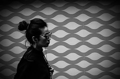 . (glynbrownson) Tags: pattern streetphotography kowloon ricohgr highcontrast hongkong blackandwhite people monochrome city metropolis urban