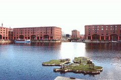 Albert Dock in 1994 (Tony Shertila) Tags: 0061994 europe britain england merseyside liverpool outdoor map albertdock buildings architecture