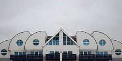 Beach-front property (hendersonrees.photography) Tags: sony dorset sandbanks a6000 abstract architecture building blue pattern