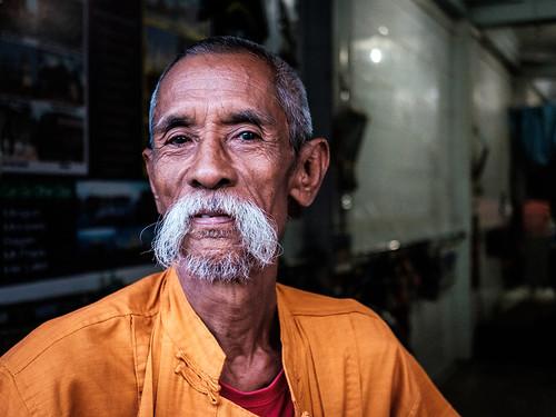 "Lu Maw of ""The Moustache Brothers"". Mandalay, Myanmar. 2016."