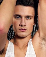 (felix-1997) Tags: guy dude lad boy male portrait muscle shirt tank top eyes hair armpit hot cute