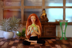morgaine in meditation (photos4dreams) Tags: 25032017p4d barbie doll puppe mattel photos4dreams p4d photos4dreamz red rot readhead long hair lange haare toy dress barbies girl play fashion fashionistas outfit kleider mode kayla morgaine