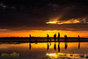 Where You Lead I Will Follow (Beth Wode Photography) Tags: sunset sunsetclouds sunrays silhouettes reflections lowtide wellingtonpoint redlands goldensunset beth wode bethwode