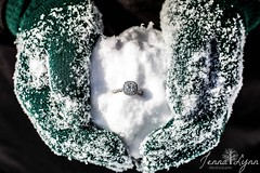Ice, Ice Baby (jenna.lindquist) Tags: iceicebaby ice snow mittens snowball ring engagementring weddingring wedding love engagementsession engagement diamond diamondring snowcovered macro macroring macroringphotography macrophotography