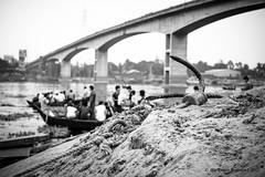 | AnChOrInG | (iam_aanwar) Tags: anchor river bridge people dof focus focused bw water sand boats dhaka bangladesh