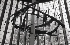 crown of thorns (OhDark30) Tags: olympus 35rc 35 rc film 35mm monochrome bw blackandwhite bwfp fomapan 200 rodinal crownofthorns sculpture geoffreyclarke 1962 coventry cathedral