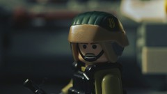Lego Rebel Soldier (Force Movies Productions) Tags: soldier star wars starwars rebellion rebel rebels trooper rogue one rifle brickarms bricks lego toy minfig military minifig minifigure minifigs custom alliance republic resistance photograpgh photo picture photograph pose photoshop brick scifi science fiction space troopers vest war weapons helmet rifles troops toys troopps gun officer army gimp gear guns helmets light brickizimo conflict cool