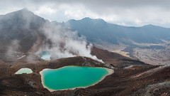 Emerald Lakes, Tongariro (zh3nya) Tags: tongariro emeraldlakes lakes volcano volcanic steam fumerole gas geology crater tongarironationalpark tongariroalpinecrossing alpine mountains peaks rugged valley d750 tamron1530mm newzealand northisland hiking