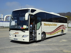 BX63 BEJ is a MB Tourismo of Titterington, Blencow, Penrith, Cumbria, seen in Aachen, Germany, on 3 April 2017. (C15 669) Tags: bx63 bej titterington blencow cumbria