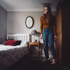 (laurawilliams▲) Tags: surreal surrealism room bedroom fine art giant girl