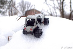 170405-03 Toy Jeep (clamato39) Tags: macro jeep toys jouets auto neige snow hiver winter