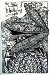 Avoiding the Eggstra Work (molossus, who says Life Imitates Doodles) Tags: easterbunny zentangle zentangleinspiredart