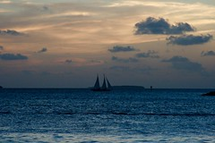 Blue Serenity ... (Marianna Gabrielyan) Tags: serenity boat sail sailboat water ocean keywest florida sky clouds sunset colors blue canonxti canonef28135mmf3556isusm