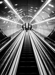 (Magdalena Roeseler) Tags: erste wahl warsaw metro geometry lines pattern bw blackandwhite monochrome light streetphotography people candid undergound stairs olympus zuiko12mm