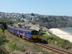 150263 & 150104 Carbis Bay (5) (Marky7890) Tags: gwr 150263 150104 class150 sprinter 2a26 carbisbay railway cornwall stivesbayline train