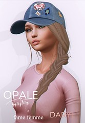 Opale x fame femme . Daryl Hair & Cap @ The Seasons Story April 2017 (Montony / Opale Hair) Tags: fame femme opale fitted mesh 3d event seasons story sl second life hair