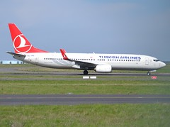 "TC-JHZ, Boeing 737-8F2(WL), 42004 / 4814, Turkish Airlines, ""Iznik"", CDG/LFPG, 2017-04-12, Delta loop, taxi to gate Yankee 5 @ Terminal 1. (alaindurandpatrick) Tags: tcjhz 737 738 737800 737ng boeing boeing737 boeing737800 boeing737ng jetliners airliners tk thy turkhavayollari turkishairlines airlines cdg lfpg parisroissycdg airports aviationphotography 420044814 iznik"