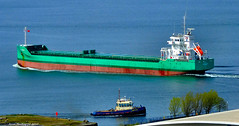 Scotland Greenock cargo ship Arklow Brave and tug Battler 19 April 2017 by Anne MacKay (Anne MacKay images of interest & wonder) Tags: scotland river clyde greenock cargo ship arklow brave tug battler xs1 19 april 2017 picture by anne mackay