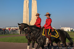 100th anniversary of the Battle of Vimy Ridge (Alexandre D_) Tags: canon eos 70d sigma sigma50mmf14exhsm 50mm 50mmf14 rcmp grc canadiannationalvimymemorial vimy vimyridge memorial france hautsdefrance nord pasdecalais officer gendarmerie royal canada canadian horses horse cheval chevaux light sky uniform centenary gendarmerieroyaleducanada mounties colors color