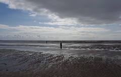 Iron man (Lancs & Lakes Outback Adventure Wildlife Safaris) Tags: anotherplace antonygormley liverpool crosby burbobank art architecture sea sand beach sky clouds man statue surf tide mersey horizon ripples