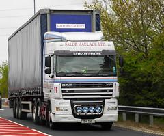 Salop Haulage Ltd Daf XF D14 SHL (sab89) Tags: salop haulage ltd trucks truck shropshire trailer trucking daf xf cab d14 shl