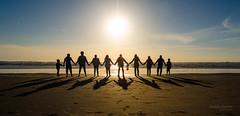 Unity (naveenm1080p) Tags: shadow goldenhour washington sunset nature people sundown landscapes oceanscape naturephotography ocean travel photography landscape seascape reflection longbeach humanchain waterfront unitedstates us