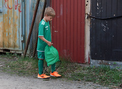 Nervous before the first practice 1 (My Best Images) Tags: ängbyif ängby if nervous football kid practice
