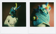 Masked Teresa (Urizen Freaza) Tags: mask polaroidweek polaroid impossible impossibleproject tip theimpossibleproject makerealphotos instantfilm roidweek roidweek2017 polaroidweek2017 sx70 mintclosup analogue analog crochet film