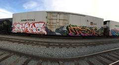 MIGHT ETCH (DARKMYTE) Tags: metal icrcrew la cali california ca rusto rolling rollingart box boxcar paint art graff graffiti graffitti steel nightshift royalty hero mighty etch trig betor rip