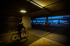 Time tunnel (NL) (Marcelo Campi Amateur photographer) Tags: bike art tunnel blue lowlight cars people street urban exploration amsterdam holland netherlands