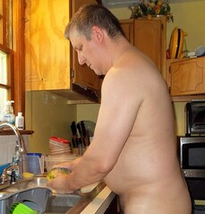 Washing dishes (gpaulc) Tags: nude naked bare skin flesh nudist naturist fkk wash clean dishes washcloth water soap butt pubic pubichair nudism naturism unclothed uncovered starker stark disrobed stripped unclad natural inthebuff birthdaysuit