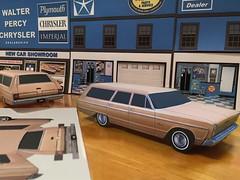 Papercraft 1966 Plymouth Fury II station wagon (official inspection station) Tags: papercraft papercar papertoy 1966 plymouth fury plymouthfury stationwagon