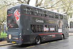6717 @ Colmore Row, Birmingham (ianjpoole) Tags: national express west midlands alexander dennis enviro 400mmc yx15oym 6717 working platinum route x10 colmore row birmingham merry hill shopping centre