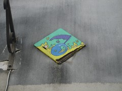 Bastek (emilyD98) Tags: paris insolite street art bastek mur wall toile peinture montmartre collage urban exploration city ville installation