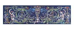 Neptune Will Provide (ieuan_edwards) Tags: linocut linogravure illustration art printmaking gravura neptune octopus cephalopod nautilus seahorse classical grabado
