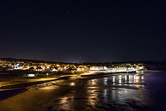 Broad Haven At Night (garethleethomas) Tags: night landscape seascape town lights stars longexposure beach seaside shore uk wales greatbritain
